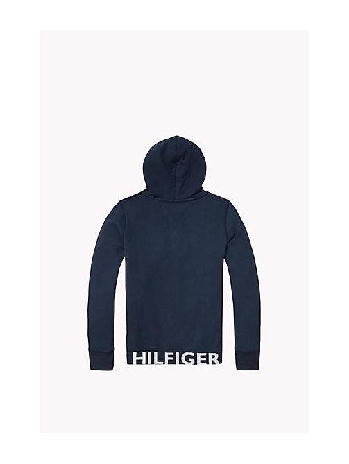 TOMMY HILFIGER Cotton Blend Hoodie - NAVY BLAZER - TOMMY HILFIGER Boys - detail image 1