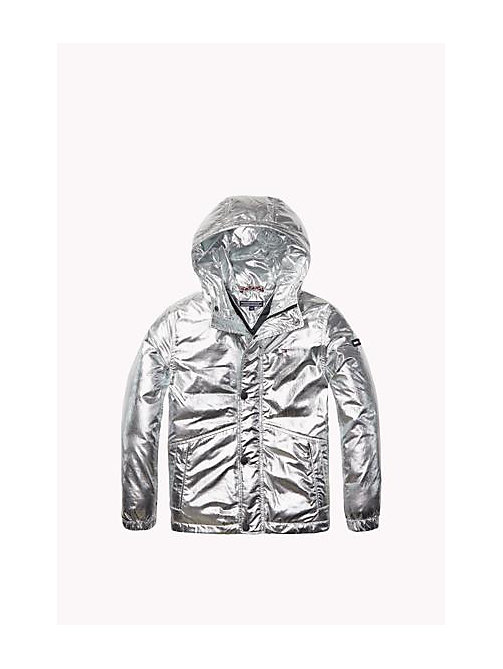 Foil-Coated Parka - METALLIC SILVER - TOMMY HILFIGER Boys - main image