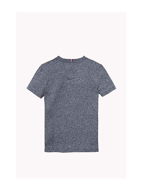TOMMY HILFIGER Cotton Blend Crew Neck T-Shirt - NAVY BLAZER - TOMMY HILFIGER Boys - detail image 1