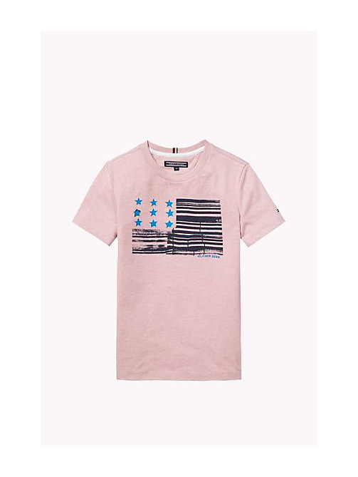 TOMMY HILFIGER Cotton Blend Crew Neck T-Shirt - ZEPHYR - TOMMY HILFIGER Boys - main image