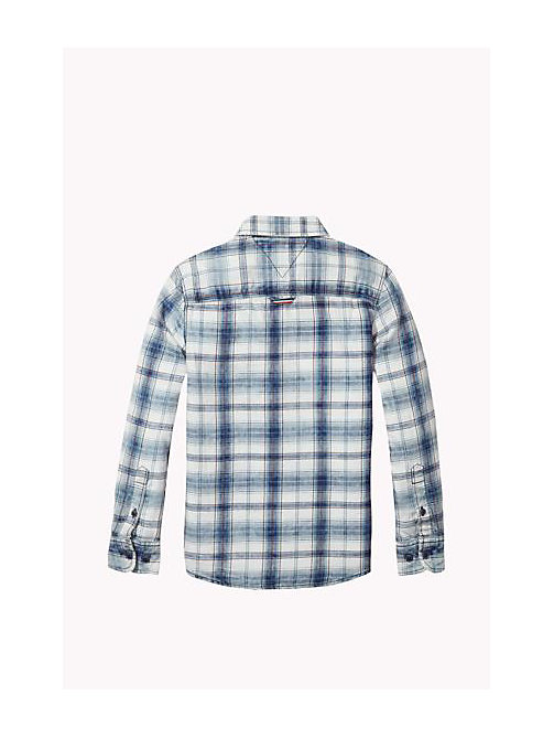 TOMMY HILFIGER Plaid Regular Fit Shirt - INDIGO HEATHER - TOMMY HILFIGER Boys - detail image 1