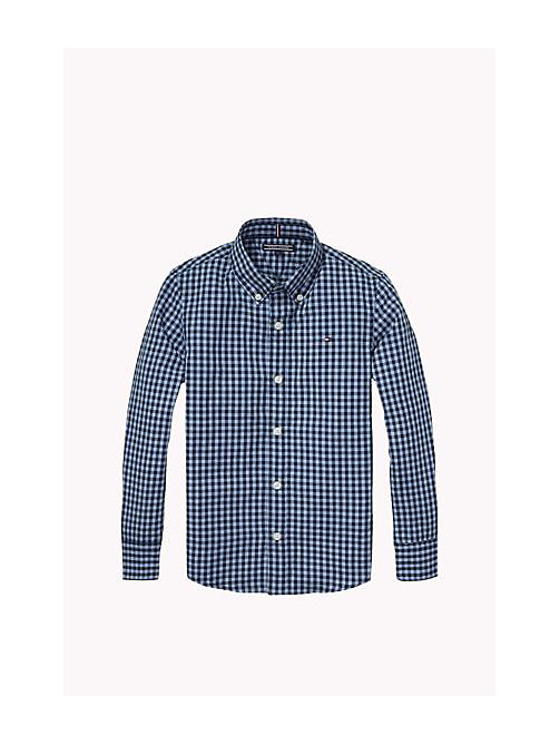 TOMMY HILFIGER Regular Fit Poplin Shirt - NAVY BLAZER - TOMMY HILFIGER Boys - main image
