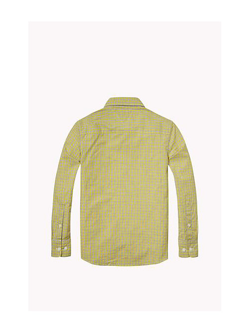 TOMMY HILFIGER Regular Fit Poplin Shirt - SUPER LEMON - TOMMY HILFIGER Boys - detail image 1