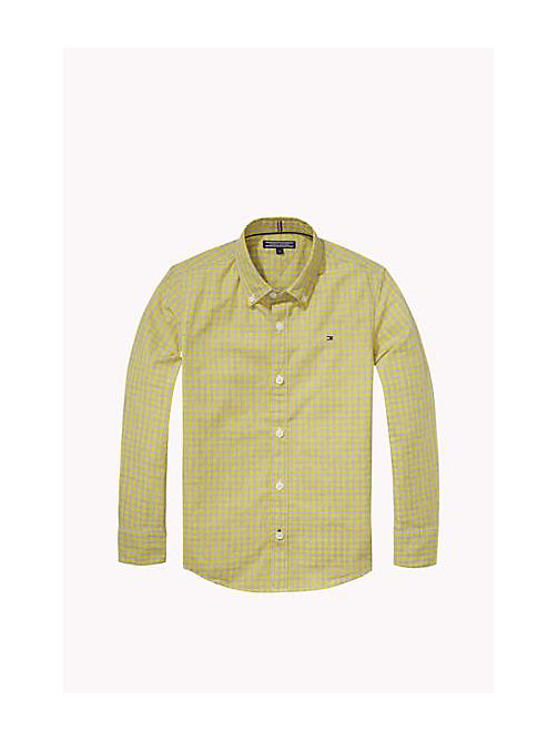 TOMMY HILFIGER Regular Fit Poplin Shirt - SUPER LEMON - TOMMY HILFIGER Boys - main image
