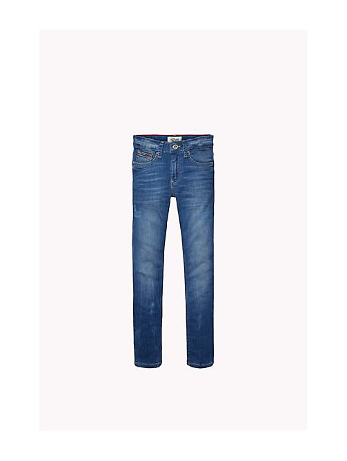 TOMMY HILFIGER Slim Fit Jeans - DELRIDGE BLUE DESTRUCTED STRETCH - TOMMY HILFIGER Boys - main image