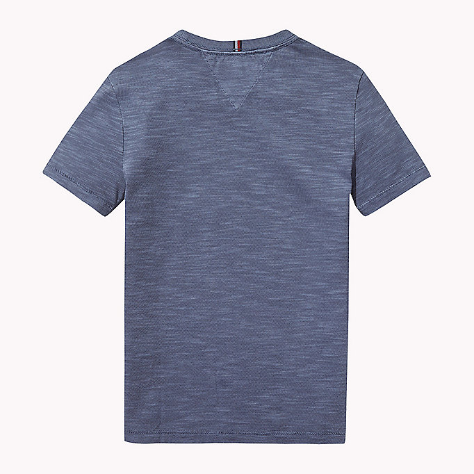 TOMMY HILFIGER Cotton Slub Crew Neck T-Shirt - SKYDIVER - TOMMY HILFIGER Boys - detail image 1