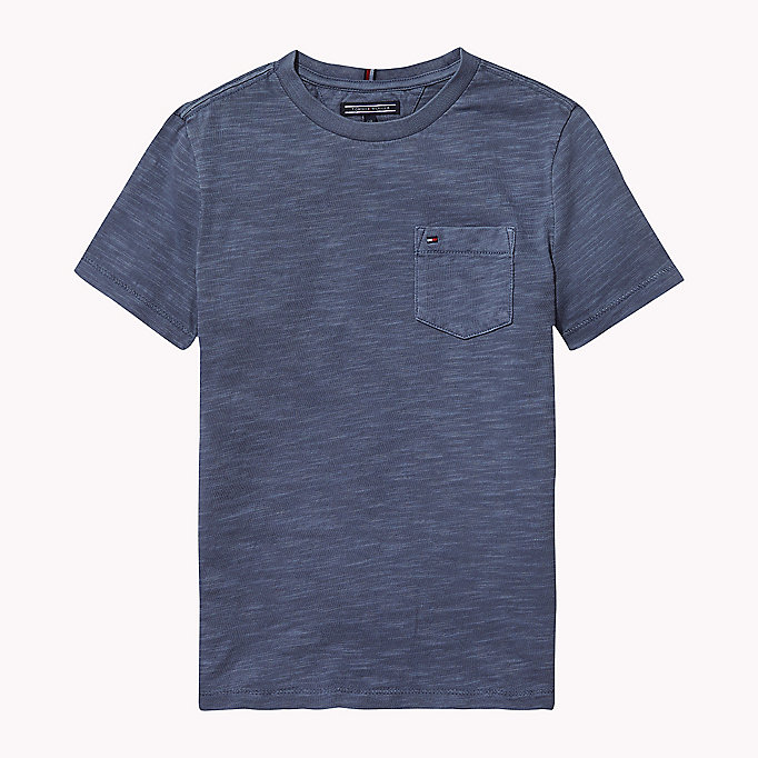 TOMMY HILFIGER Cotton Slub Crew Neck T-Shirt - SKYDIVER - TOMMY HILFIGER Boys - main image