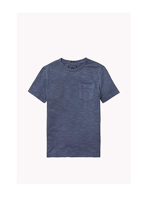 TOMMY HILFIGER Cotton Slub Crew Neck T-Shirt - GRISAILLE - TOMMY HILFIGER Boys - main image