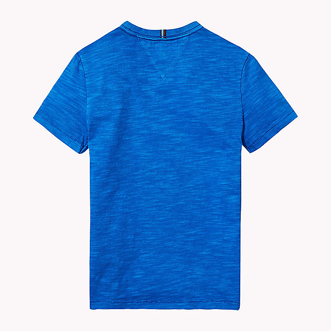 TOMMY HILFIGER Cotton Slub Crew Neck T-Shirt - ZEPHYR - TOMMY HILFIGER Boys - detail image 1