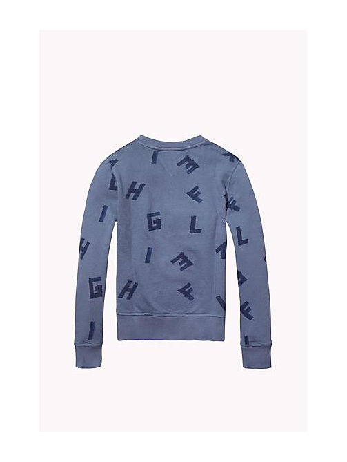 TOMMY HILFIGER Felpa in cotone Hilfiger - GRISAILLE - TOMMY HILFIGER Bambino - dettaglio immagine 1