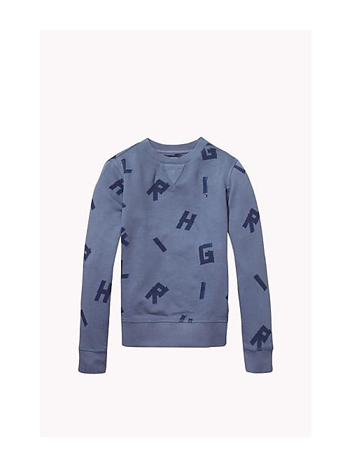 TOMMY HILFIGER Felpa in cotone Hilfiger - GRISAILLE - TOMMY HILFIGER Bambino - immagine principale