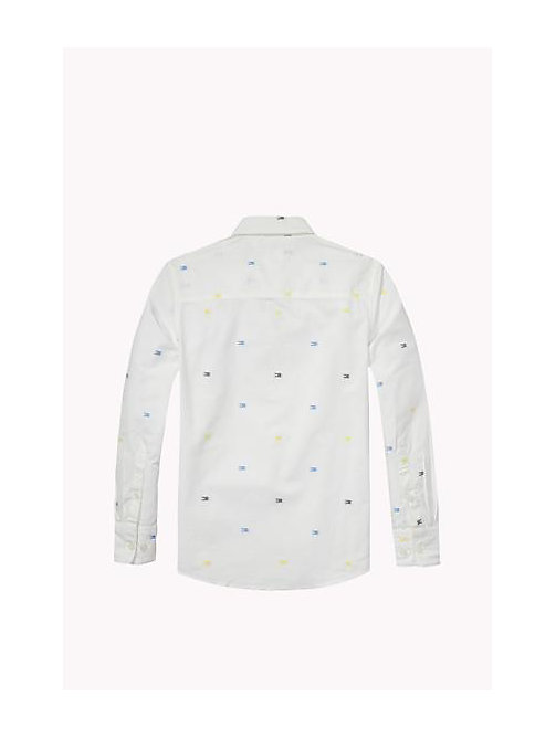 TOMMY HILFIGER Regular Fit Dobby Shirt - BRIGHT WHITE - TOMMY HILFIGER Boys - detail image 1
