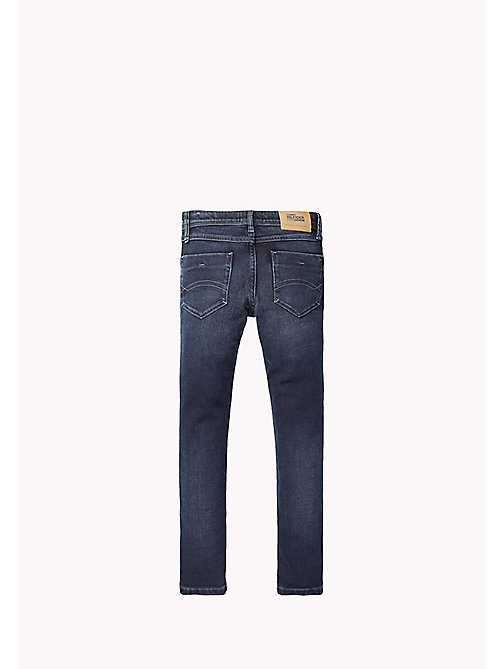 TOMMY HILFIGER Slim fit tapered jeans - BLUE BLACK STRETCH - TOMMY HILFIGER Jongens - detail image 1