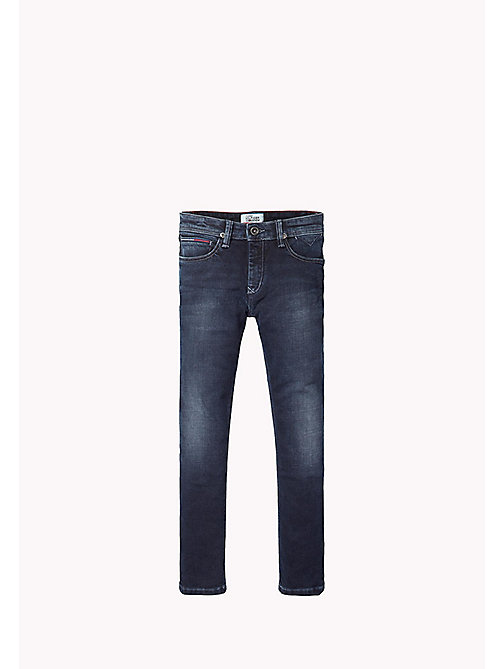 TOMMY HILFIGER Slim fit tapered jeans - BLUE BLACK STRETCH - TOMMY HILFIGER Jongens - main image