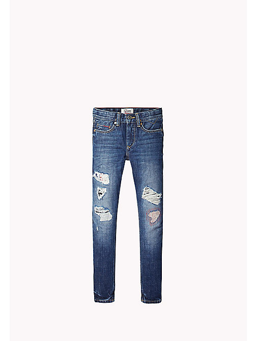 TOMMY HILFIGER Versleten slim fit jeans - WOODLAND REPAIRED - TOMMY HILFIGER Jongens - main image