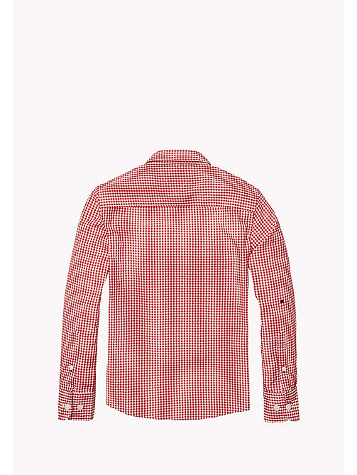 TOMMY HILFIGER Regular Fit Gingham Shirt - SALSA - TOMMY HILFIGER Boys - detail image 1