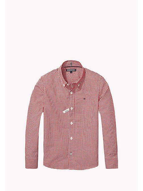 TOMMY HILFIGER Regular Fit Gingham Shirt - SALSA - TOMMY HILFIGER Boys - main image