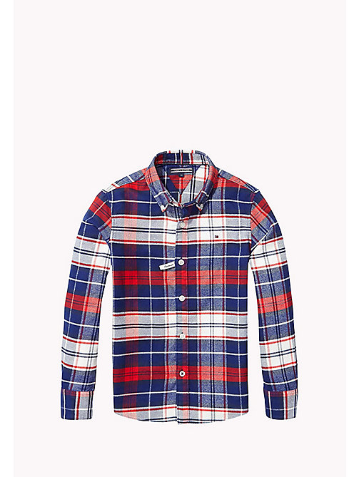 TOMMY HILFIGER Regular Fit Plaid Shirt - BLACK IRIS - TOMMY HILFIGER Boys - main image