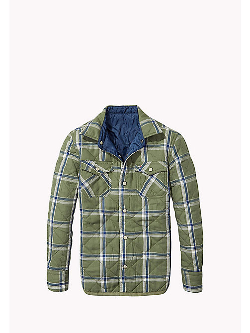 TOMMY HILFIGER Regular Fit Reversible Quilted Shirt - FOUR LEAF CLOVER - TOMMY HILFIGER Boys - main image