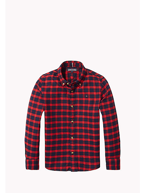 TOMMY HILFIGER Regular Fit Checked Shirt - SALSA - TOMMY HILFIGER Boys - main image