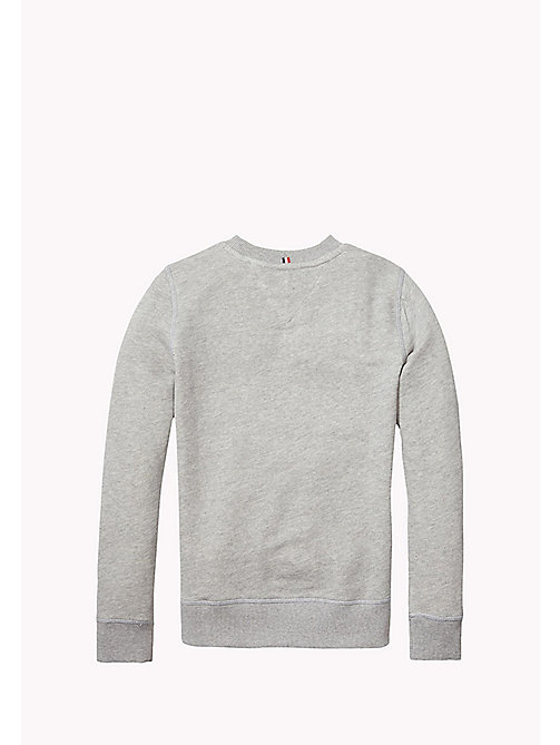 TOMMY HILFIGER Katoenen sweatshirt - GREY HEATHER - TOMMY HILFIGER Jongens - detail image 1