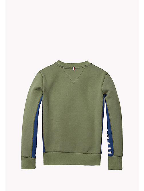 TOMMY HILFIGER Bonded Cotton Sweatshirt - FOUR LEAF CLOVER - TOMMY HILFIGER Boys - detail image 1