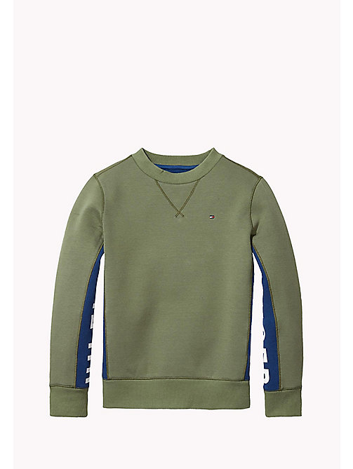 TOMMY HILFIGER Bonded Cotton Sweatshirt - FOUR LEAF CLOVER - TOMMY HILFIGER Boys - main image