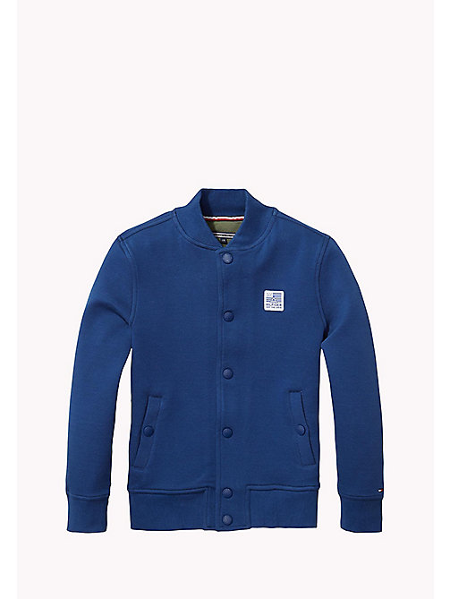 TOMMY HILFIGER Bonded Cotton Jacket - ESTATE BLUE - TOMMY HILFIGER Boys - main image