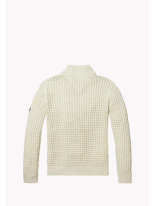 TOMMY HILFIGER Cotton Blend Zip Jumper - BONE WHITE - TOMMY HILFIGER Boys - detail image 1