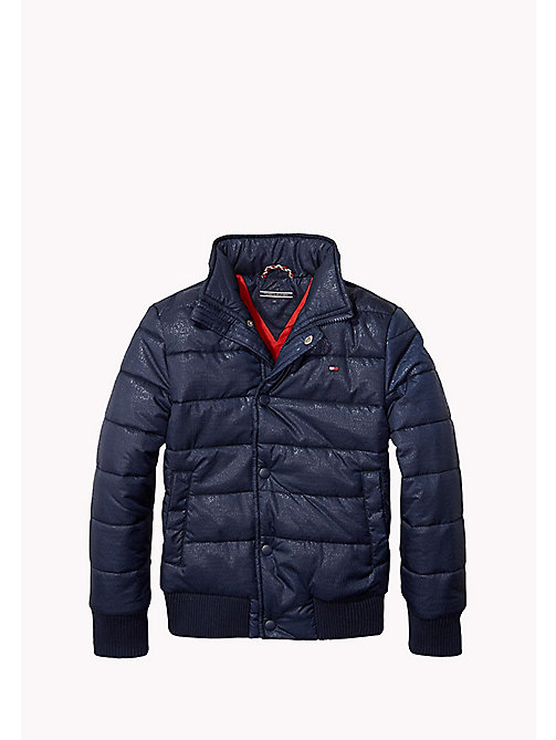 TOMMY HILFIGER Logo Embossed Padded Jacket - NAVY BLAZER - TOMMY HILFIGER Boys - main image