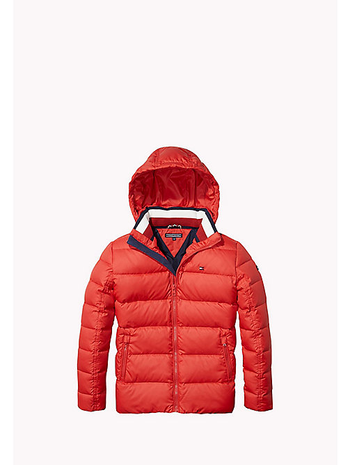 TOMMY HILFIGER Quilted Down Jacket - SALSA - TOMMY HILFIGER Boys - main image