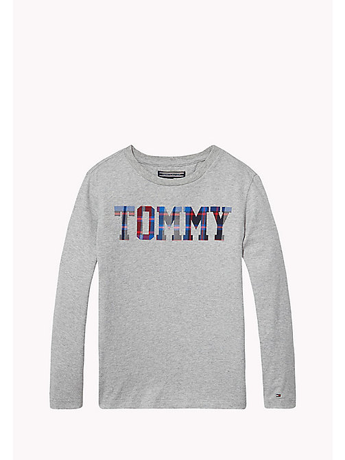 TOMMY HILFIGER T-shirt met logo - GREY HEATHER - TOMMY HILFIGER Jongens - main image