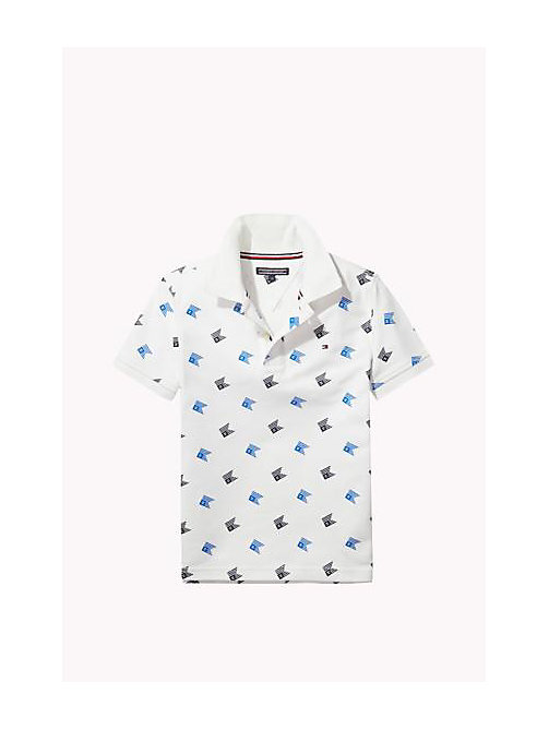 Cotton Piqué Polo - BRIGHT WHITE - TOMMY HILFIGER Boys - main image