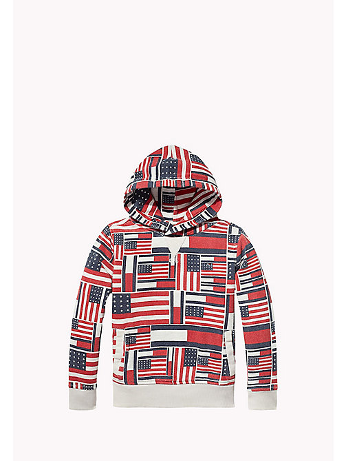 TOMMY HILFIGER Printed Hoodie - BONE WHITE HEATHER - TOMMY HILFIGER Boys - main image