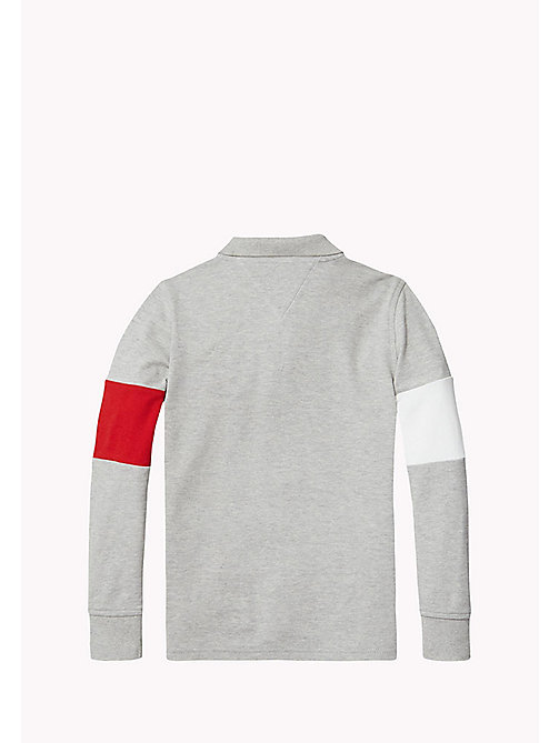 TOMMY HILFIGER Polo met vlagontwerp - GREY HEATHER - TOMMY HILFIGER Jongens - detail image 1