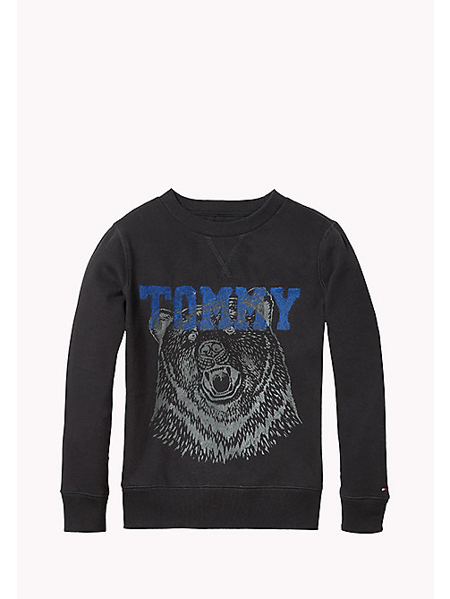 TOMMY HILFIGER Cotton Blend Sweatshirt - TOMMY BLACK - TOMMY HILFIGER Boys - main image