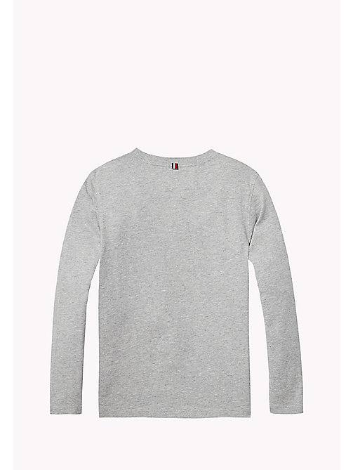 TOMMY HILFIGER Organic Cotton T-shirt - GREY HEATHER - TOMMY HILFIGER Boys - detail image 1