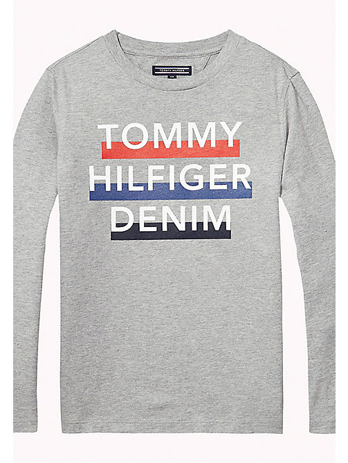 TOMMY HILFIGER Organic Cotton T-shirt - GREY HEATHER - TOMMY HILFIGER Boys - main image