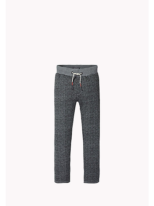 TOMMY HILFIGER Herringbone Trousers - MID GREY HTR - TOMMY HILFIGER Boys - main image