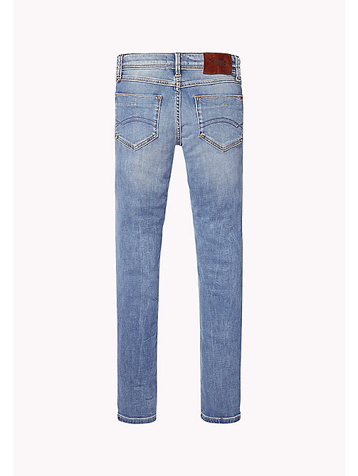 TOMMY HILFIGER Slim Fit Ripped Tapered Jeans - UTAH CROSS HATCH STRETCH - TOMMY HILFIGER Jeans - detail image 1