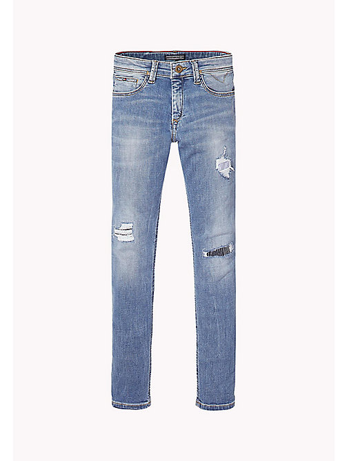 TOMMY HILFIGER Slim Fit Ripped Tapered Jeans - UTAH CROSS HATCH STRETCH - TOMMY HILFIGER Jeans - main image