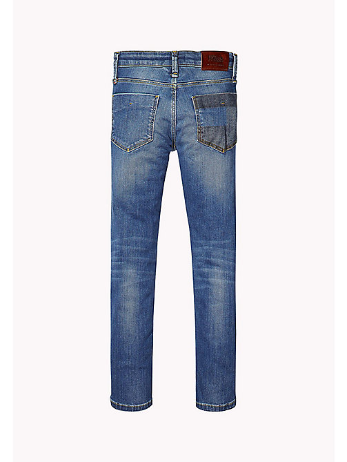 TOMMY HILFIGER Slim Fit Patched Jeans - NEVADA MID BLUE STRETCH - TOMMY HILFIGER Jeans - detail image 1
