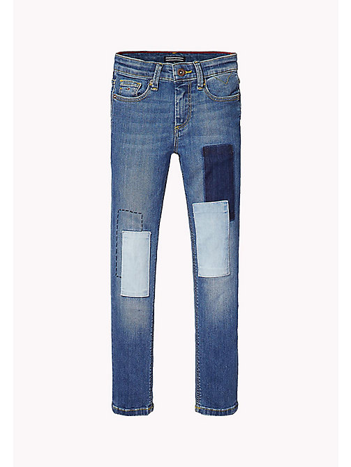 TOMMY HILFIGER Slim fit jeans met patches - NEVADA MID BLUE STRETCH - TOMMY HILFIGER Jeans - main image