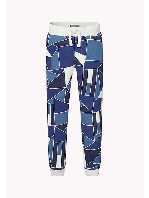 TOMMY HILFIGER Flag Colourblock Sweatpants - BRIGHT WHITE - TOMMY HILFIGER Trousers & Shorts - main image