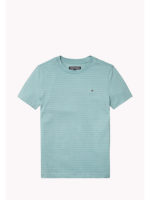 TOMMY HILFIGER Striped Crew Neck T-Shirt - CAMEO BLUE - TOMMY HILFIGER T-shirts & Polos - main image