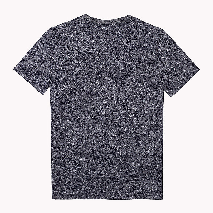 TOMMY HILFIGER Cotton Blend V-Neck T-Shirt - CAMEO BLUE - TOMMY HILFIGER Kids - detail image 1