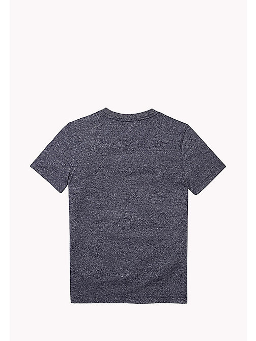 TOMMY HILFIGER Cotton Blend V-Neck T-Shirt - BLACK IRIS - TOMMY HILFIGER T-shirts & Polos - detail image 1