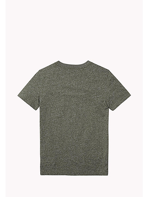 TOMMY HILFIGER Cotton Blend V-Neck T-Shirt - THYME - TOMMY HILFIGER T-shirts & Polos - detail image 1