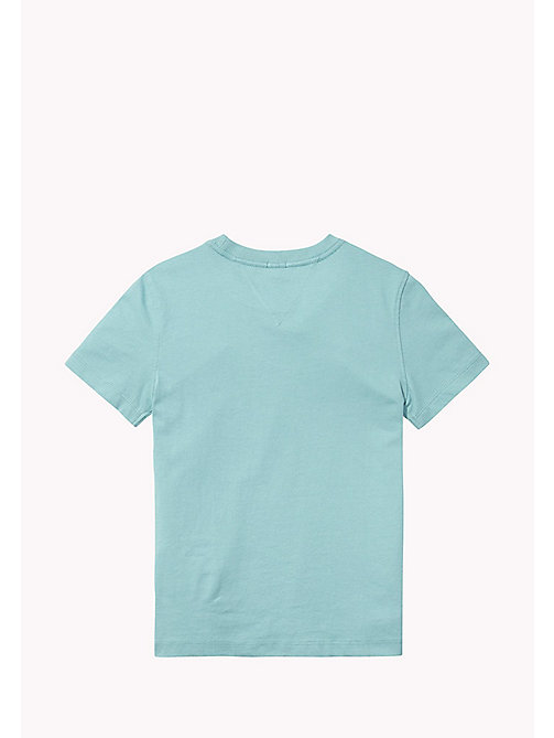 TOMMY HILFIGER Cotton Blend V-Neck T-Shirt - CAMEO BLUE - TOMMY HILFIGER T-shirts & Polos - detail image 1