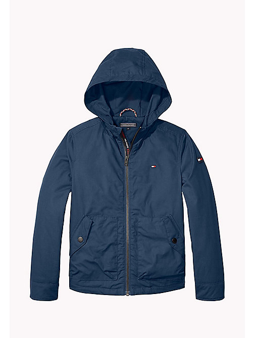 TOMMY HILFIGER Hooded Cotton Jacket - BLACK IRIS - TOMMY HILFIGER Coats & Jackets - main image